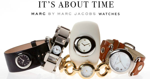 разнообразие часов от Marc Jacobs