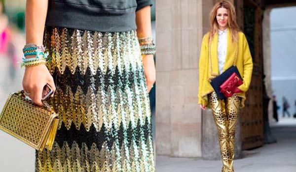Мода сезона осень-зима 2013/2014: золотая одежда