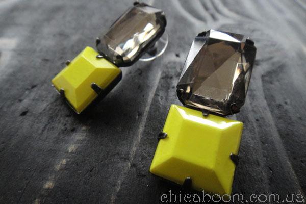 квадратные серьги заказать в интернет магазине