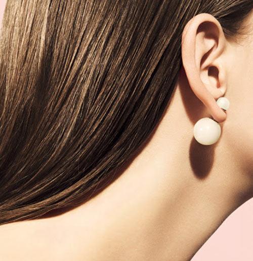 Серьги Жемчужина в стиле Dior (белые)