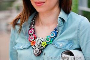 Стильные вещи. Ожерелье Shourouk в цветочном стиле.