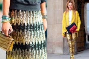 Мода сезона осень-зима 2013/2014: с чем, когда и как носить золотую одежду