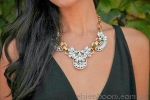 """Стильные вещи. Ожерелье """"Винтажный кристалл"""""""
