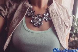 Стильные вещи. Ожерелье Ледяные цветы